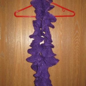 Women's Hand Knit Scarf- Amethyst