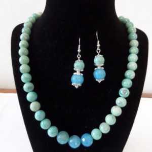 Blue Agate Jewewlry set