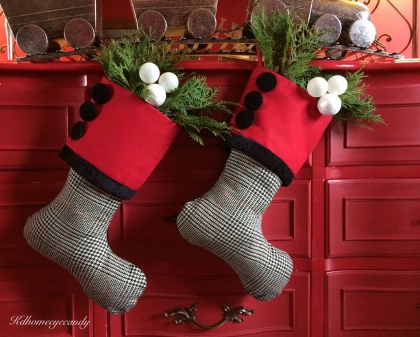 red white and black stocking red christmas stocking black and white stocking - Red And White Christmas Stockings
