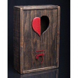 Open Heart Wooden Gift, Jewelry, or Wine Box