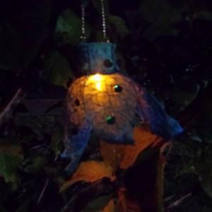 Embroidered Organza Fairy Lantern