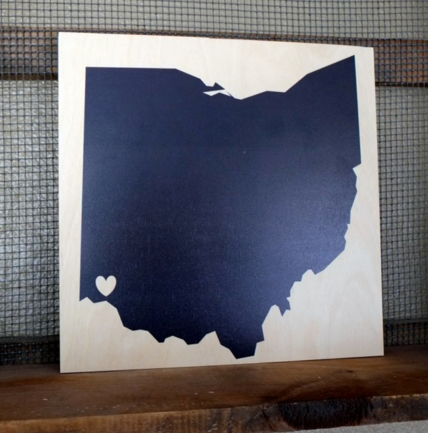 Ohio Love - Cincinnati 12x12 wood print