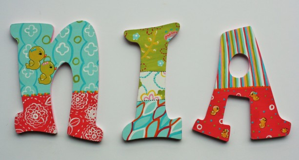 Girl Nusery Wall Letters -- Hand painted name letters to coordinate with any nursery decor -- Price Per Letter