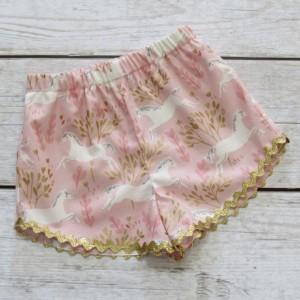 SPARKLE- Girl Unicorn Shorts