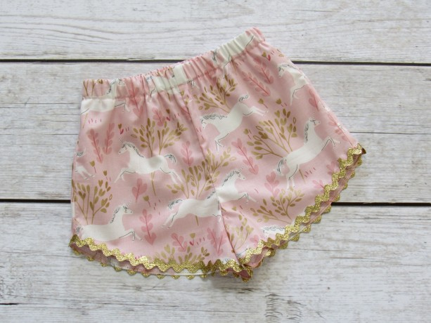 SPARKLE- Girl Unicorn Shorts