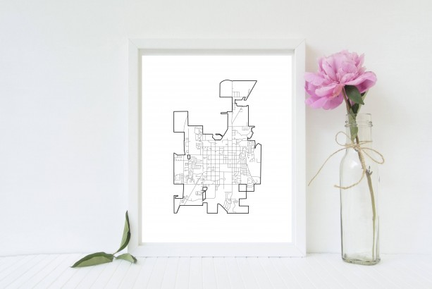 Rexburg, Idaho Print - 8x10