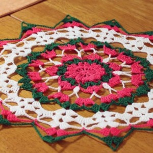 Christmas Star Crocheted Doily