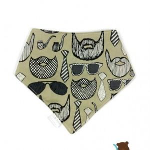 Dark Beige Beard Bibdanas- Beard Bibs- Moustache Bibs- Moustache Clothes- Beard Clothes- Toddler Beard- Baby Beards- Toddler Bibs- Baby Bibs