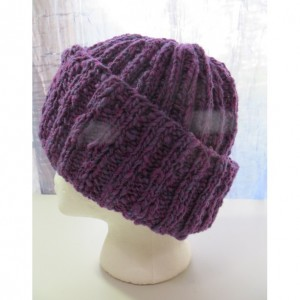 Beanie Hat Watch Cap Hand Knitted with Hand Spun 100% Wool - KINKAID'S LUPINE by Kat