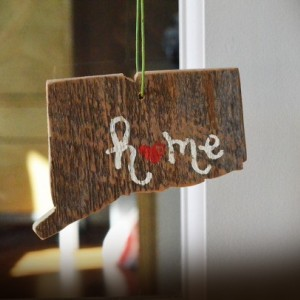 Rustic Custom Connecticut Ornament