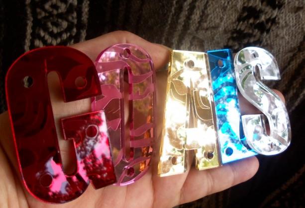 Snapback letters,3D letters,Impact,mirror letters,laser cut