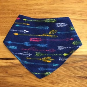 Arrow Bandana Drool Bib, Toddler bib, drool catcher, woodland bib, boho bib
