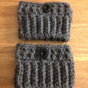 Crochet boot cuffs/Gray