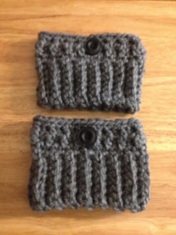 Crochet boot cuffs/Gray