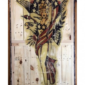 "Sailor Jerry, ""Lady Liberty"" Dining Table"