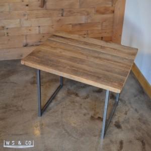 """Dining Table - 48""""  Reclaimed Wood & Metal Legs"""