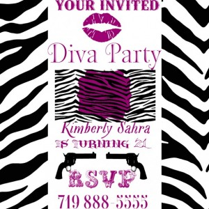 Diva Party Invitation