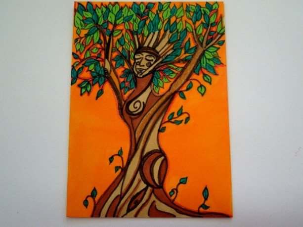 Sunset Dryad ACEO