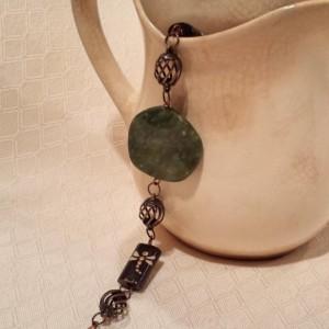 Dragonflies & Stone Bracelet