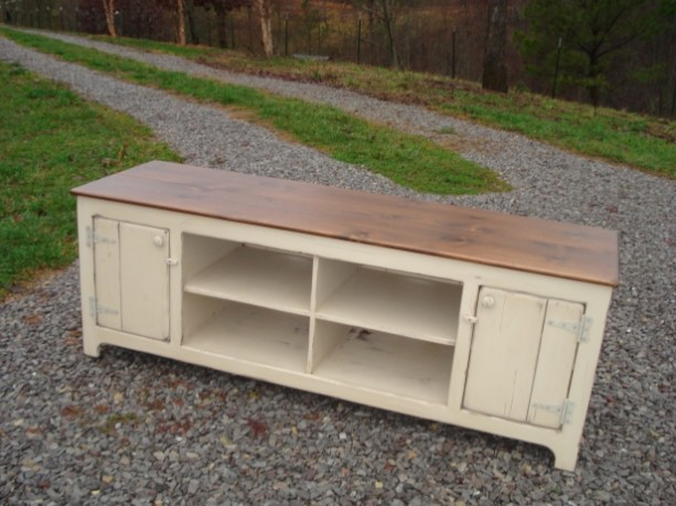 Media Console, TV Stand, Primitive Entertainment Center, Sideboard