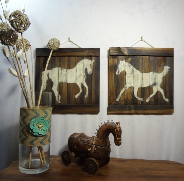 Rustic Horse Wooden Wall Art