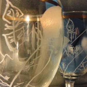 winged wine glasses