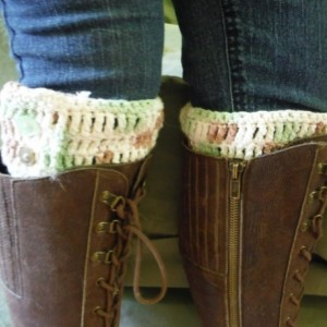 Creamy mint boot liner