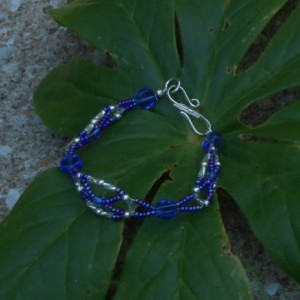 Blue and Silver Bracelet