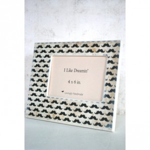 4 x 6 Picture Frame - Mustache Picture Frame