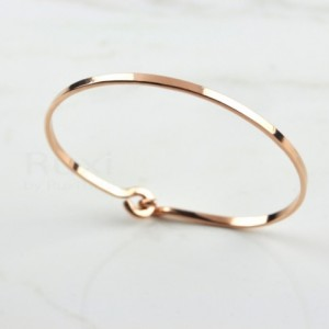 14K Rose Gold Filled Bangle, Rose Gold Bracelet, Cuff Bracelet Gold, Gold Cuff Bangle, Thin Bangle, Rose Gold Bangle, Rose Bangle,Minimalist