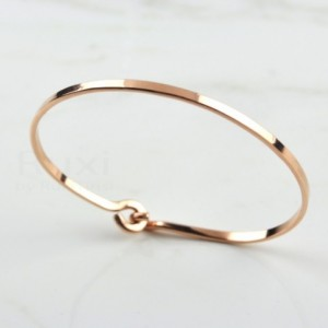 14K Rose Gold Filled Bangle, Rose Gold Bracelet, Cuff Bracelet Gold, Gold Cuff Bangle, Thin Bangle, Rose Gold Bangle, Rose Bangle,Minimalist