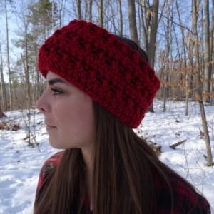 Resizable Crochet Headband with Buttons - Ear Warmer