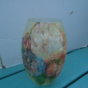 Flowered vase