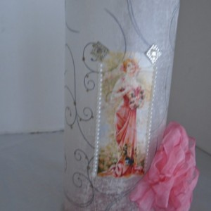 Vase with a bow