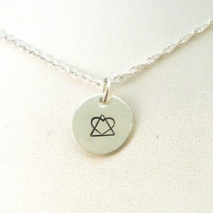 Hand Stamped Jewelry - Adoption Symbol Necklace