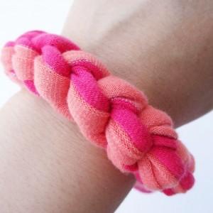 Orange Pink Sparkle Chunky Bracelet