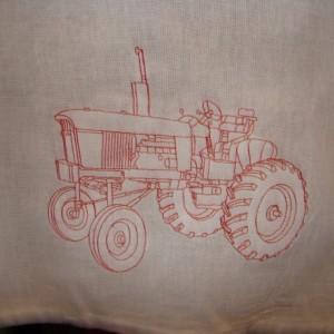 Red Tractor Floursack Dishtowel