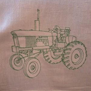 Green Tractor Floursack Dishtowel