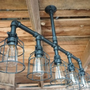 Lattitude Lighting With Wire Cages
