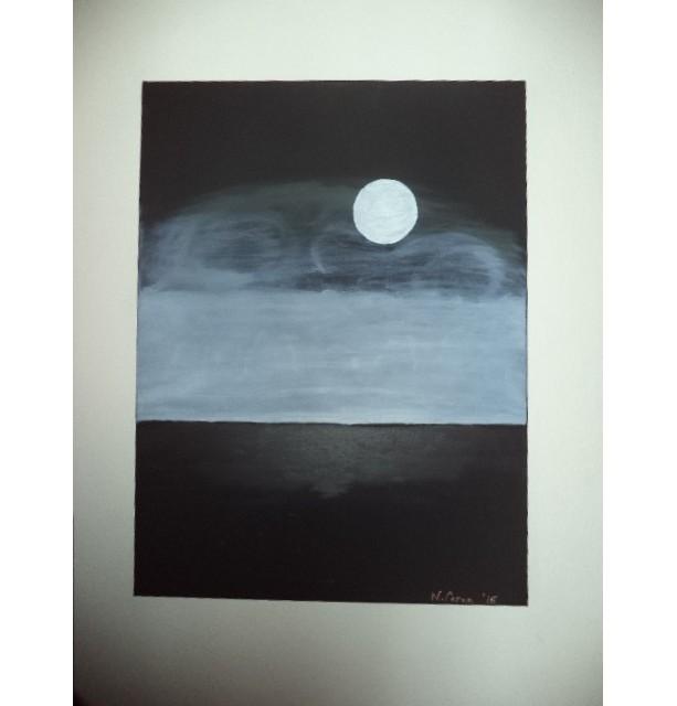 18 X 24 Black & White Original Artist Painting