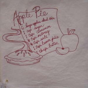 Apple Pie Recipe Floursack Dishtowel