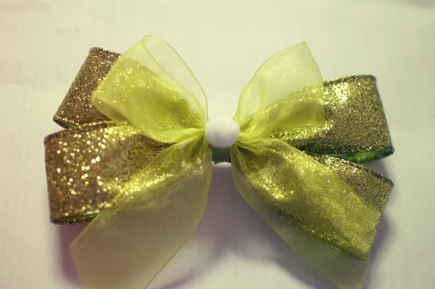 Tinkerbell Inspired Hair Bow