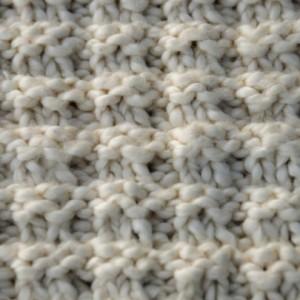 Hand Knit Spa Washcloth Certified Organic Cotton Trio