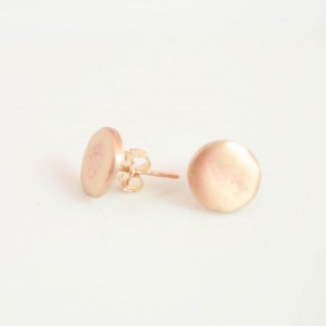 Tiny Geo Earring Studs. Dainty Little Golden Bronze Posts. Geo Minimalist Jewelry