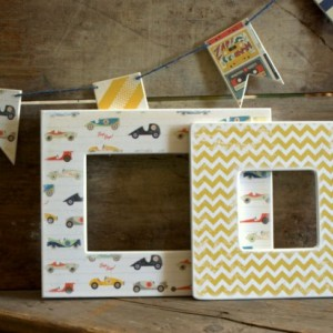Yellow Chevron Picture Frame
