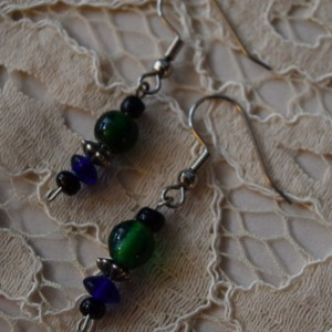 Blue & Green Dangle Earrings