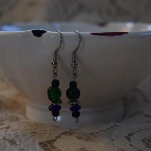 Blue & Green Dangle Earrings