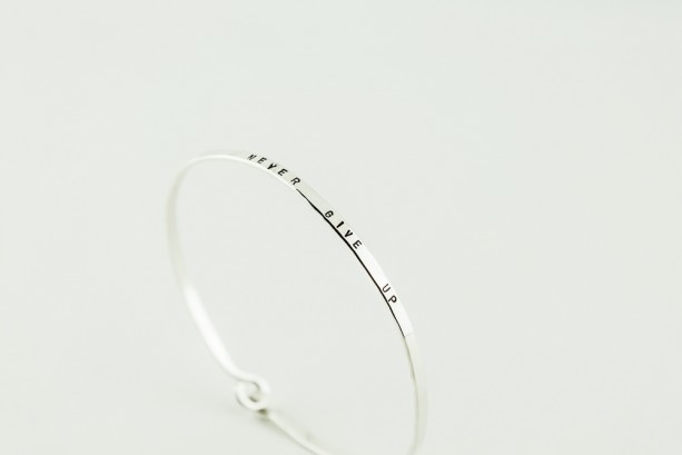 7f873b6c7fd6 Sterling Silver Hand Stamped Bangle