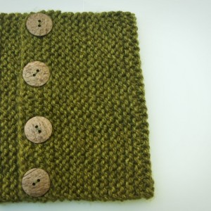 Deep Forest Hand Knit Cowl