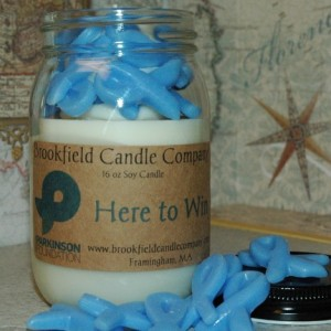 """HERE TO WIN """"Parkinson Foundation Candle"""""""
